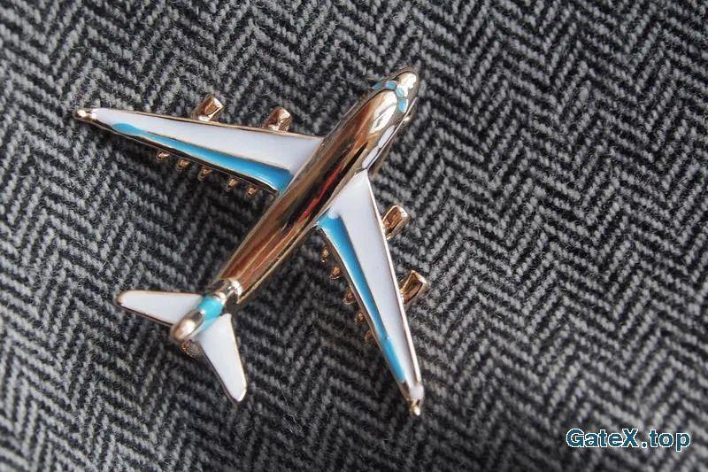 Брошь самолет, брошь стюардесса, брошь полет, самолетик подарок