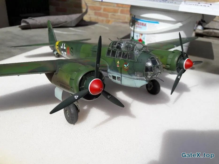 Модель самолета Ю-88А-5, масштаб 1/48