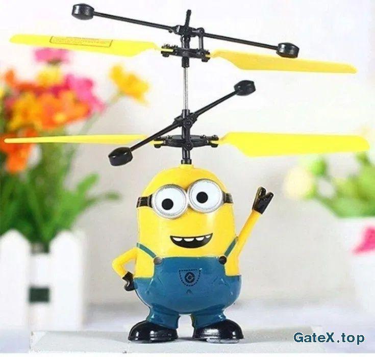 Летающий миньон дрон летает на руке детская игрушка