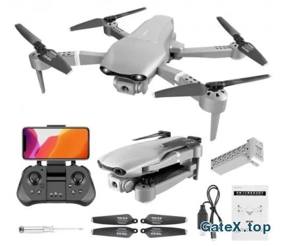 Квадрокоптер(дрон) F3 GPS, 5G,4K,FPV,1800мАч,25м полёта,+3батареи+кейс