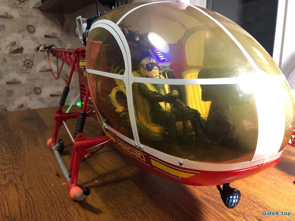 Вертолёт двс hirobo