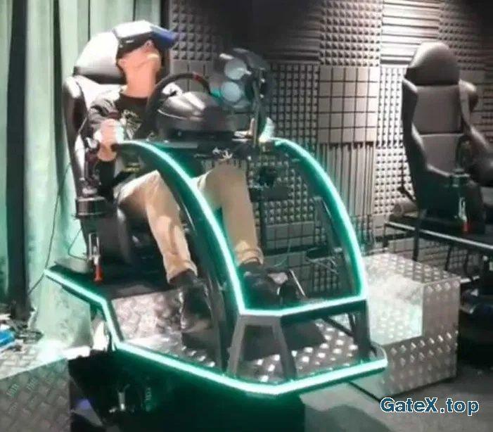 Аттракцион с подвижным креслом, авто авиа симулятор, OCULUS, HTC