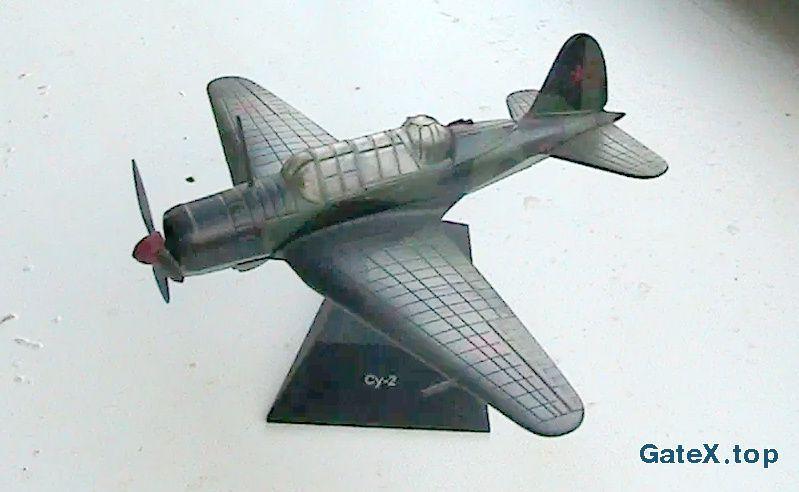 Самолёт СУ - 2 с журналом