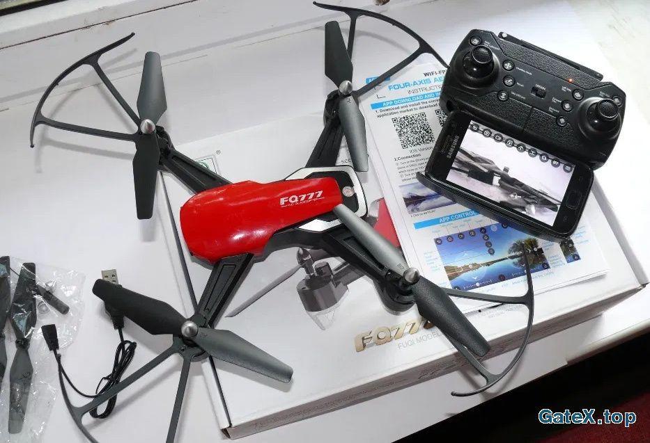 Квадрокоптер FQ40 с камерой WiFi, автовозвратом и удержанием высоты