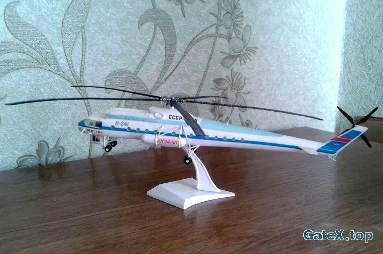 Модель вертолета Ми-10К