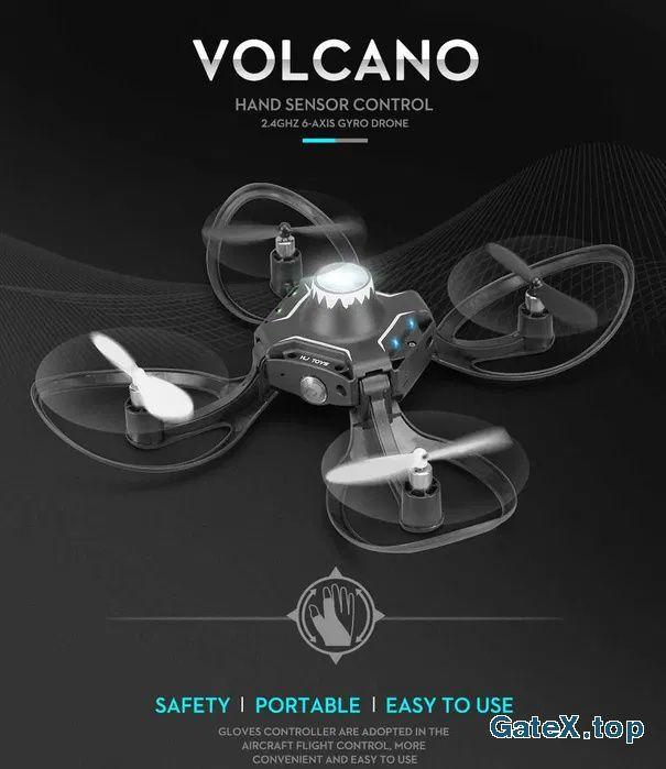 Квадрокоптер VOLCANO W606-16 /дрон с управлением положения руки